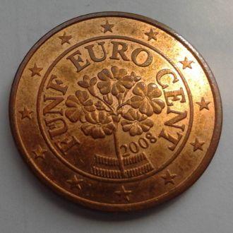Австрия 5 евро центов 2008