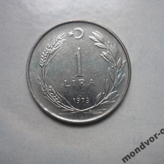 Турция 1 лира 1973