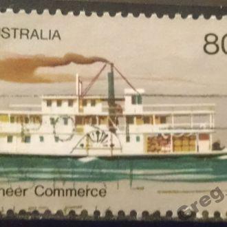 марки Австралия техника пароход