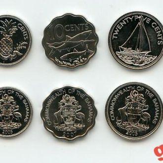 БАГАМЫ (1992- 2007)- набор монет 5 шт UNC