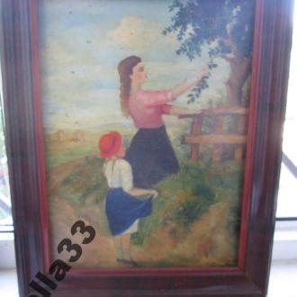 Картина Мать с дочкой