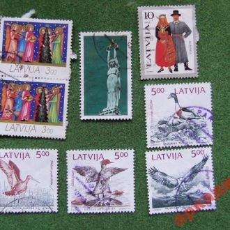 марки-Латвия -1993г  8 марок