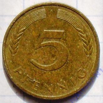 5 пфенингов 1987