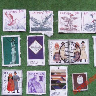 марки-Латвия -1993г  13 марок