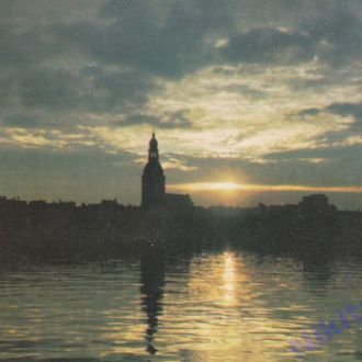1976. Латвийская ССР. Рига на заре.