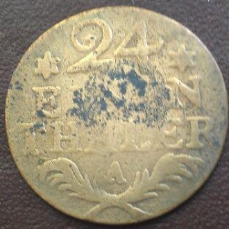 1/24 талера 1783 Прейбен. Фальшак того времени.