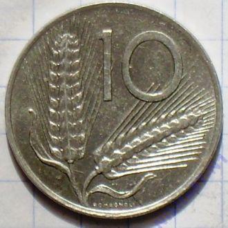 Италия 10 лир 1983 г.
