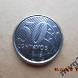 Бразилия,50 сентаво, 2005 год.