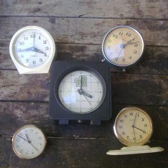 Часы Будильники 5 шт СССР