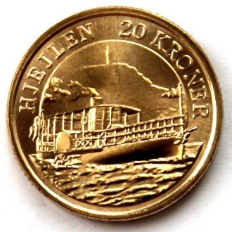 Дания 20 крон 2011 корабль, колёсный пароход UNC