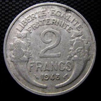 Франция 2 франка 1948 год