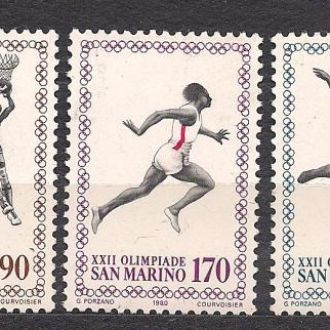 Сан Марино**,1980г.,22-е Олимпийские игры