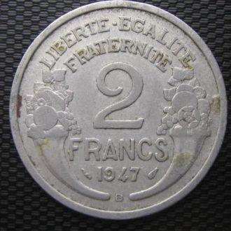 Франция 2 франка 1947 год (В)
