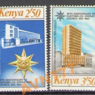 Кения 1983 почта таможня корабль серия MNH