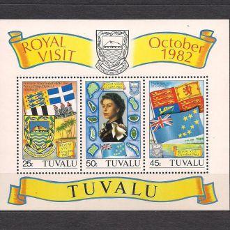 Тувалу**, 1982г., королева Елизавета 2