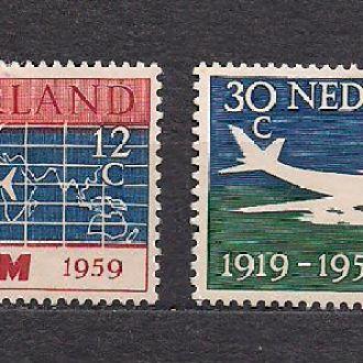 Нидерланды*, 1959г.,самолеты