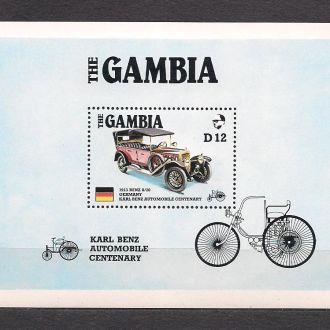 Гамбия**,1986г., Ретро-автомоб.