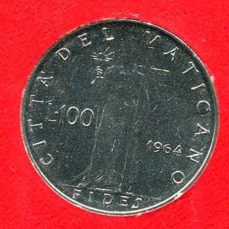 Ватикан 100 лир 1964 UNC из набора!