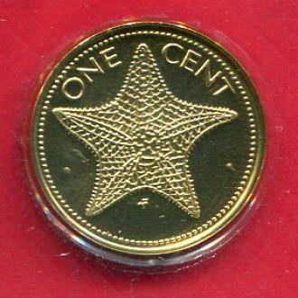 Багамы 1 цент 1974 ПРУФ из набора Морская ЗВЕЗДА