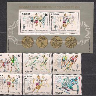 Польша**,1984г.,спорт,23-е  Олимпийские игры