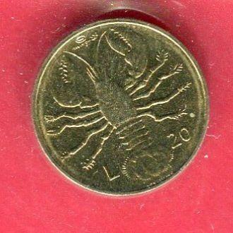 Сан Марино 20 лир 1974 UNC Омар из набора