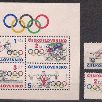 Чехословакия**,1984г., спорт, 23-е Олим. игры