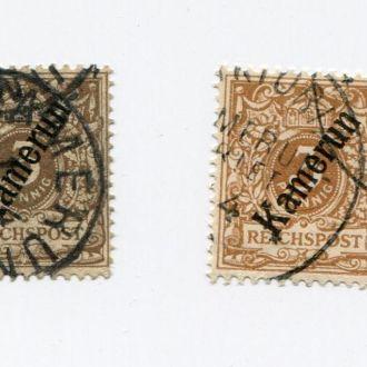 ГЕРМАНИЯ 1897 КОЛОНИИ КАМЕРУН 3 пф ЦВЕТ