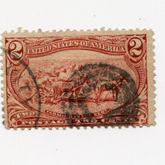 США 1898 2 ЦЕНТА ЛОШАДЬ