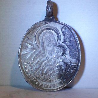 Козельщанская икона, серебро 84, Украина 1890-ые