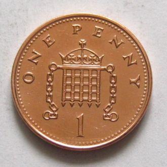 Великобритания_ 1 пенни 2001 года