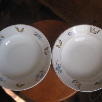 Две глубоких тарелки Вербилки Конец 40-х