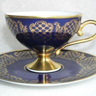 Чашка, тарелка, кобальт, Hutschenreuther, Германия