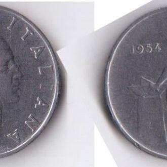 Италия 50 лир 1954