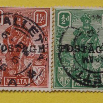 Британские колонии.  Мальта. 1926 г. КL. Кат. цена