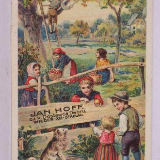 Реклама шоколад, Jan Hoff, Галиция, Польша 1890е