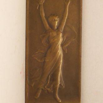Плакетка, медаль в стиле модерн, L. Cariat 1919 г.