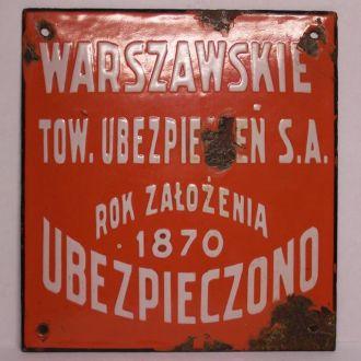 Страховая табличка, Варшава, Польша, Россия 1910ые