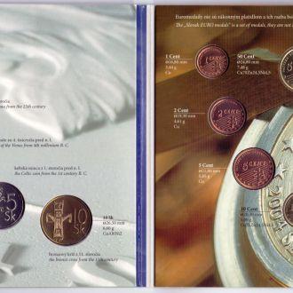 Словаччина Офіційний Набір монет+Європроб  2004 р.