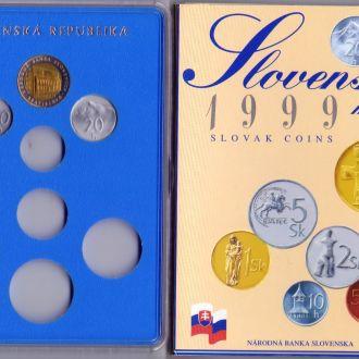 Словаччина Набір монет + жетон мон. двору  1999р.