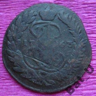 РОССИЯ, 2 копейки 1763 года.