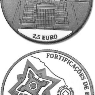 Португалия 2,5 евро 2013 Укрепления Элваша Unc