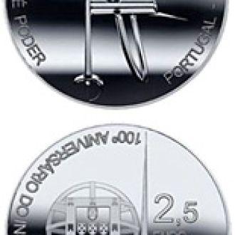 Португалия 2,5 евро 2011 100 лет Военной Академии