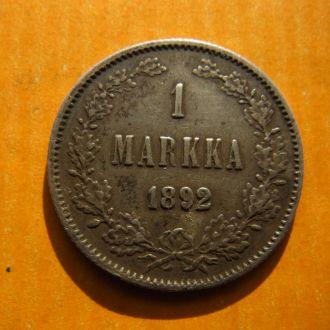 Россия Финляндия 1 марка 1892 серебро №1