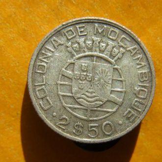 Португальский Мозамбик 2,5 эскудо 1942 СЕРЕБРО!№2