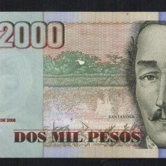 Колумбия 2000 песо 2008г UNC