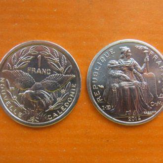 Новая Каледония 1 франк 2014 г из рола фауна птица