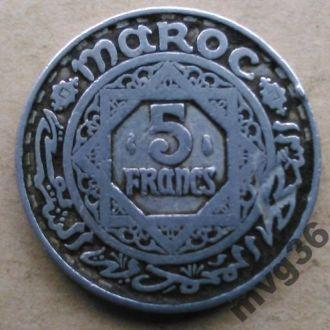 Марокко,5 франков,1951 (1370) год.