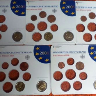 """Німеччина набір для ЄВРО 2008 рік.UNC """"Гамбур"""