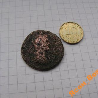 Большая монета Древнего Рима - АС импер. Каракаллы