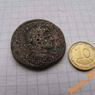 Большая монета Древнего Рима: сестерций Каракаллы